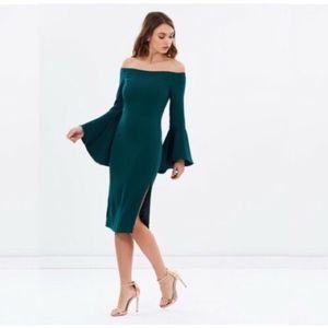 Bardot Bell Sleeve Sheath Dress Sz 6